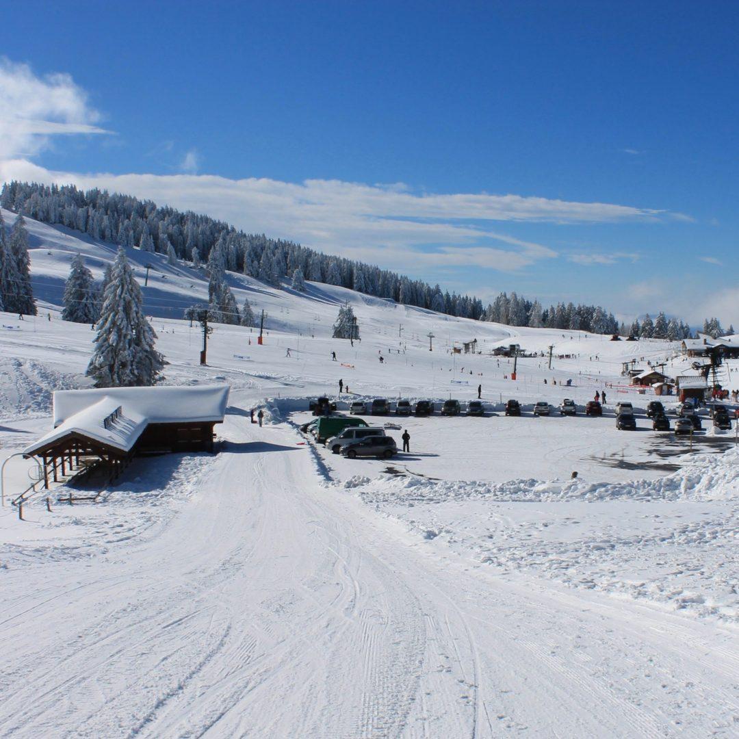 Snow stadium of Semnoz Versant Annecy